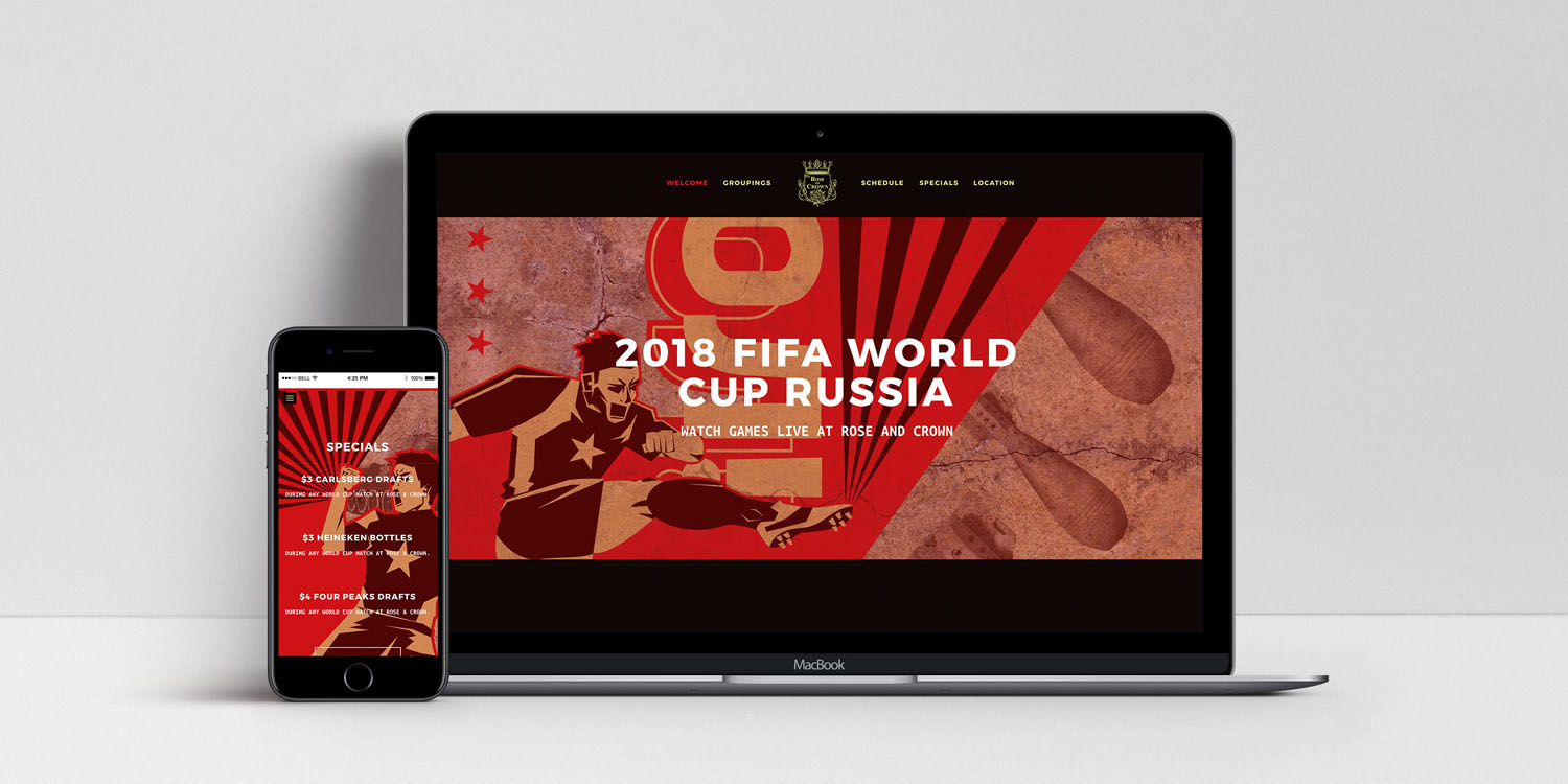 a laptop and phone featuring russian takeover website designs